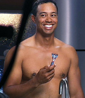 Tiger Woods nude